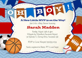 Babyshower Invitation Card Sports Baby Shower Invitations Theruntime Com