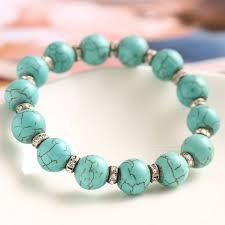 turquoise beads bracelet images 9 models new pulseras turquoise beads bracelet handmade jpg