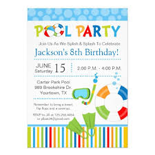 awesome summer and pool party invitation template for card and