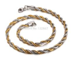 gold braided rope necklace images Online shop hotsale latest design 21 6 39 39 6mm wide 316l stainless jpg