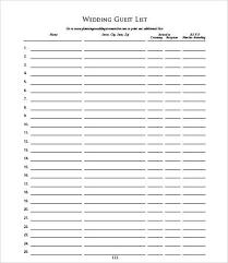 invite list template guest list management sheet template word
