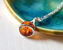 amber earrings necklace images Amber pendant etsy jpg
