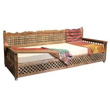 whitewash moroccan carved daybed omero home