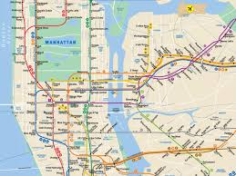 Subway New York Map Download Map New York City Subway Major Tourist Attractions Maps