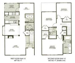 floor plans for 2 story homes fascinating small two floor house plans ideas ideas house design