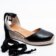 espadrille co uk comfortable low wedge black ankle tie espadrilles