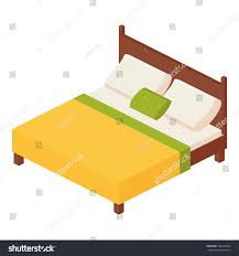 isometric vector illustration double mattress one stock vector