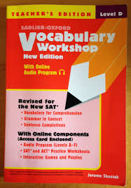 vocabulary workshop level d teacher u0027s edition jerome shostak
