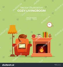 colorful vector cozy warm bright winter stock vector 506387254