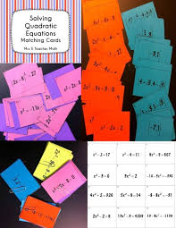solving quadratic equations matching cards i used this as part of a stations review activity