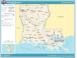 louisiana map in usa united states geography for louisiana