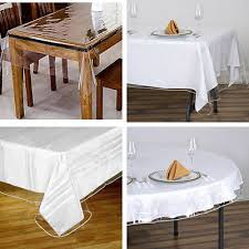 clear vinyl table protector clear plastic vinyl tablecloth protector table cover catering home
