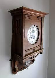 beautiful antique schlenker kienzle art nouveau wall clock circa