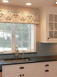 window treatment ideas for kitchens modern marvelous valances for kitchen adding color and pattern