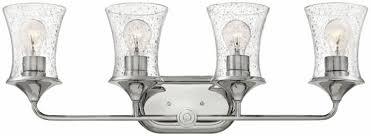 Hinkley Vanity Light Hinkley 51804pn Thistledown Polished Nickel 4 Light Vanity