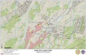 Hawaii Lava Flow Map June 27 Lava Flow Update 2 11 15 Big Island Now