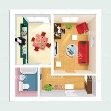 Wohnzimmer Quadratisch Grundriss Moderne Detaillierten Grundriss Wohnung Mit Küche Wohnzimmer Bad
