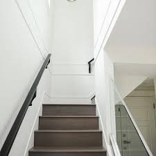 Glass Stair Banister Gray Staircase Handrail Design Ideas