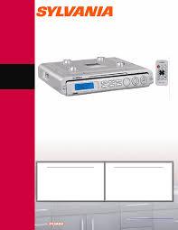 Kitchen Clock Radio Under Cabinet Sylvania Clock Radio Skcr2613 User Guide Manualsonline Com