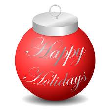 clipart happy holidays ornament