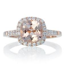 gold cushion cut engagement rings 14k gold cushion cut morganite diamond engagement ring