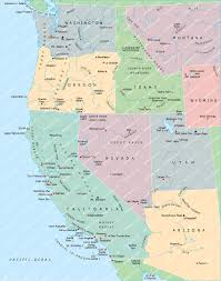 Map Of West Coast States by Download Map Usa West Major Tourist Attractions Maps
