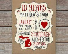 10 year anniversary gift husband wedding anniversary gifts for him paper canvas 10 year