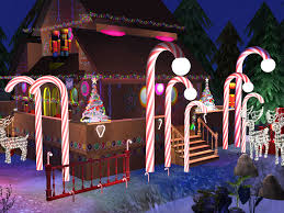battery operated candy cane lights diy candy cane outdoor lights trendy celebrate photo uk stakes
