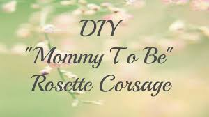 Mom To Be Corsage Diy