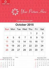 october 2015 calendar template vector free 123freevectors