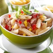 recette salade de pâtes au thon tomate et maïs facile rapide