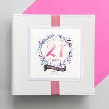 birthday photo album personalised 21st birthday photo album by 2by2 creative
