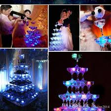 Photo Cubes Centerpieces by High Quality Led Light Up Glow Ice Cubes Wedding Party
