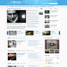 news download free joomla magazine template
