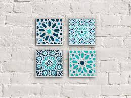 canvas print moroccan mosaic set moroccan wall decor moroccan