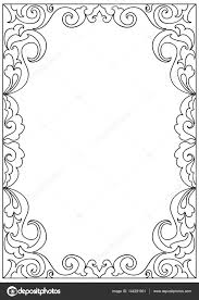 decorative floral frame coloring page u2014 stock vector nuarevik
