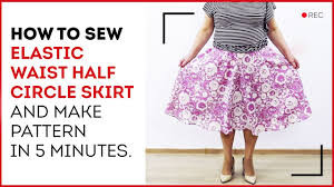 diy how to make an elastic waist skirt in 5 minutes designing a