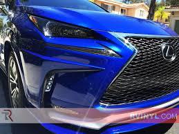 blue lexus nx rtint lexus nx 2015 2015 headlight tint film