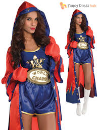 boxer costume boxer costume adults knockout fancy dress womens rocky