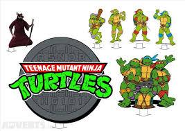 teenage mutant ninja turtles tmnt stand ups icing sheet cake