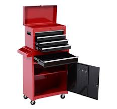 Tool Cabinet On Wheels by Homcom Portable Tool Chest Rolling Toolbox Storage Cabinet Cart