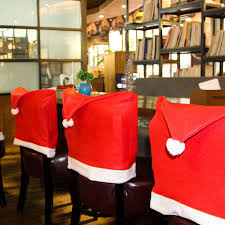 christmas chair back covers christmas decorations craft gifts chair covers santa claus table