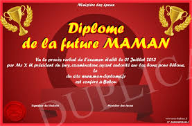 future maman diplome de la future maman