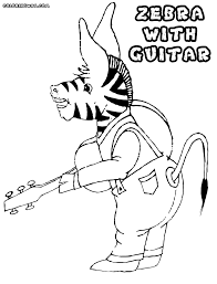 guitar coloring pages to print zebra coloring pages coloring pages to download and print