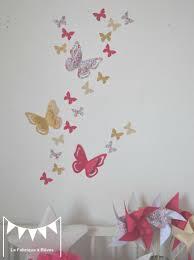 sticker mural chambre bébé decoration chambre bebe fille enfant liberty heloise fuchsia