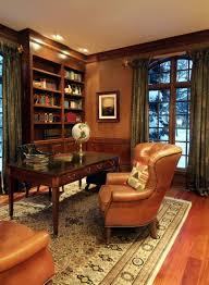 Masculine Curtains Decor Home Office Designs