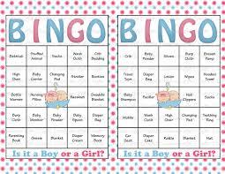 60 baby shower bingo cards printable party gender reveal