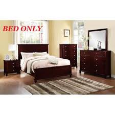 esofastore bedroom dark brown wood bed frame headboard footboard