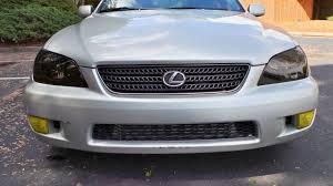 lexus is 300 jdm lexus is300 lamin x charcoal headlight u0026 yellow fog light tint