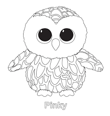 pinky owl ty beanie boo coloring pages beanie